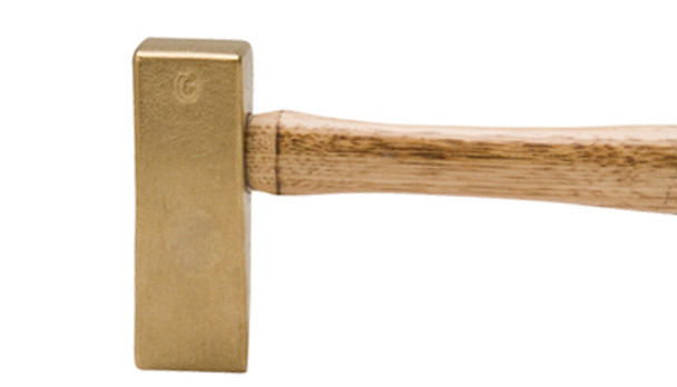 "Brass Cut-Off Hammer 12"" Wood Handle"