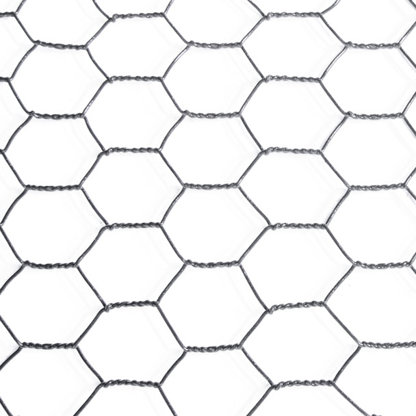 "16 Gauge Black Vinyl Coated Hex / Poultry Netting Mesh 1.5"" (4 ft. x 150 ft.)"