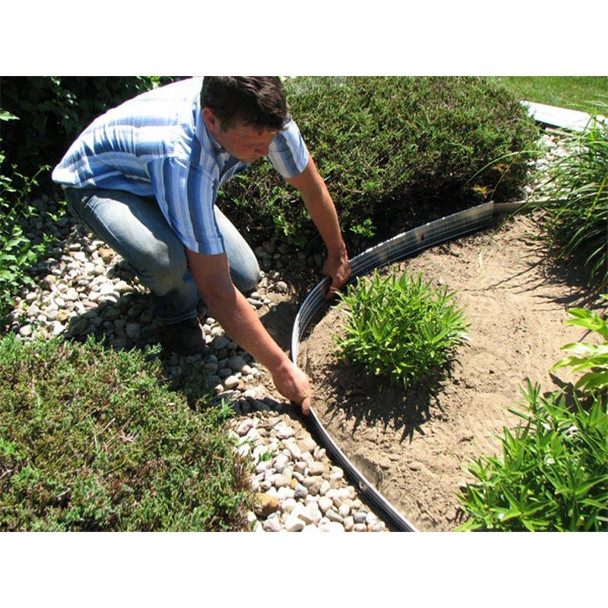 Sure-Loc 24 ft. Aluminum Landscape Edging Project Kit in Silver (Mill)