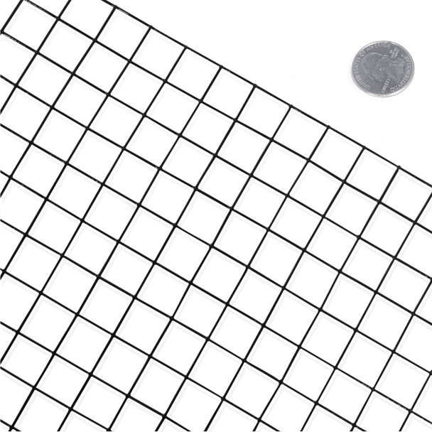 Amazing rebar wire mesh elaboration electrical chart ideas 16 gauge black vinyl coated welded wire mesh size 1 inch by 1 inch greentooth Images