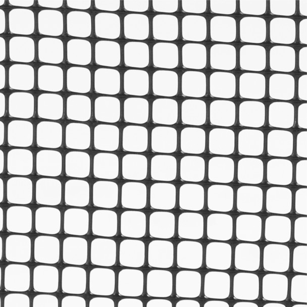"Black Plastic Hardware Net 3 ft. x 15 ft. & Mesh 0.5"" x 0.5 """