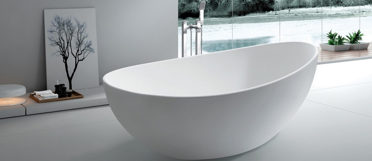 Fancy freestanding bathtubs ensign the best bathroom for Best freestanding tub material