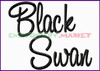 BLACK SWAN Machine Embroidery Designs Fonts Instant Download