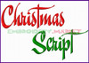 CHRISTMAS SCRIPT Machine Embroidery Designs Fonts Instant Download