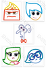 INSIDE OUT SET OF 5 EMBROIDERY MACHINE DESIGNS INSTANT DOWNLOAD 4X4 5X7