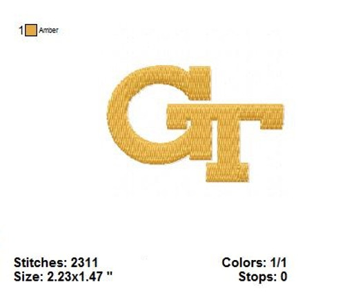 Georgia Tech Yellow Jackets football Sports Team Football Machine Embroidery Designs Instant Download