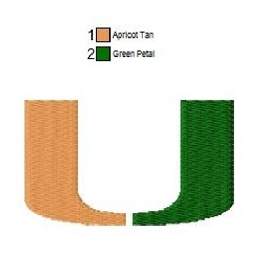 3 Sizes Miami Hurricanes football University Logo Embroidery Designs Instant Download