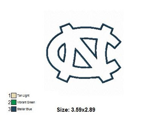North Carolina Tar Heels University Applique Embroidery Designs Instant Download 4x4 hoop