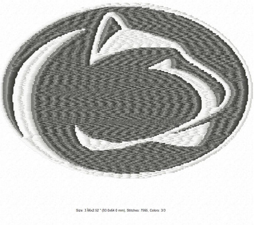 Penn State Nittany Lions  Filled & Applique University Sports Team Embroidery Designs Download