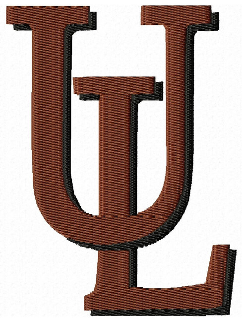 UL University of Louisiana at Lafayette Sports Embroidery Designs Download