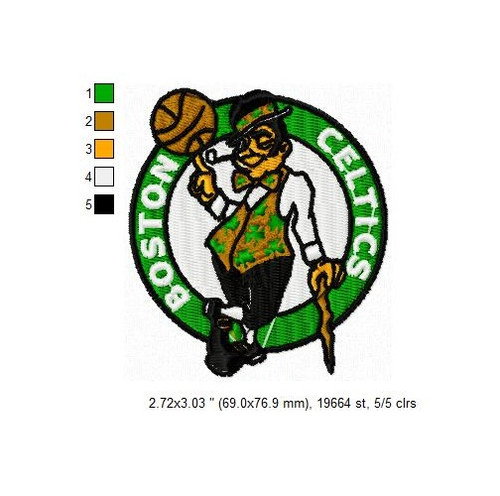 Boston Celtics NBA Basketball Team Sports Embroidery Designs Download
