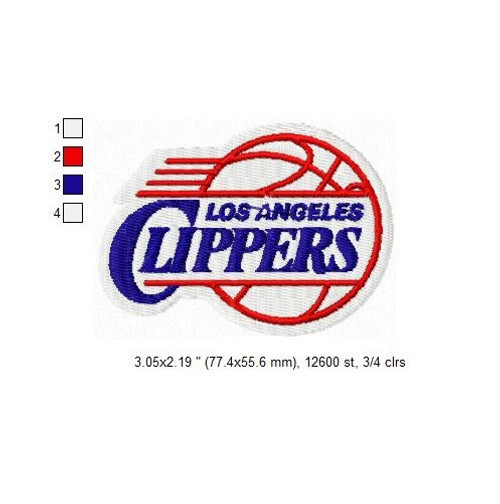Los Angeles Clippers NBA Basketball Team Sports Embroidery Designs Download