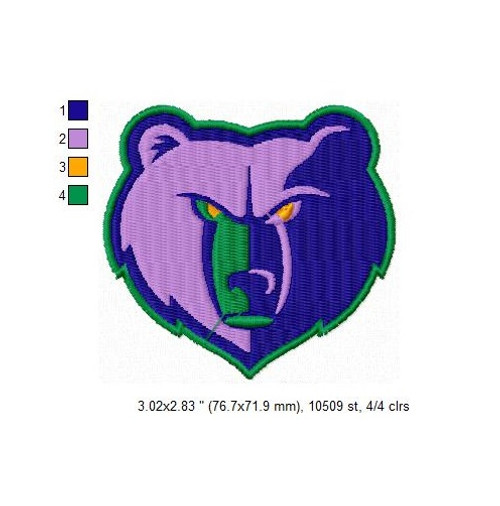 Memphis Grizzlies NBA Basketball Team Sports Embroidery Designs Download