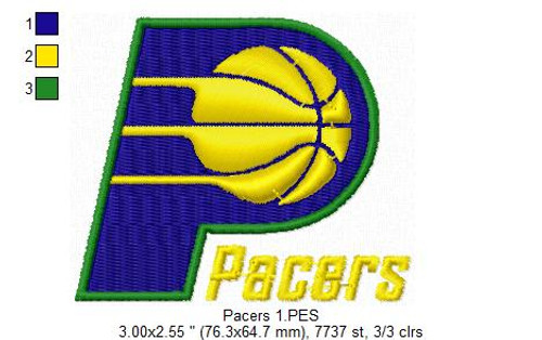 Indiana Pacers NBA Basketball Team Sports Embroidery Designs Download