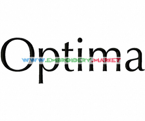 OPTIMA Machine Embroidery Designs Fonts Instant Download