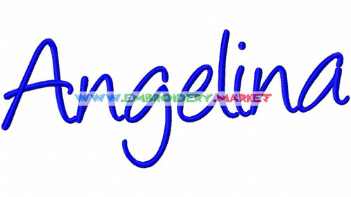 ANGELINA  Machine Embroidery Designs Fonts Instant Download