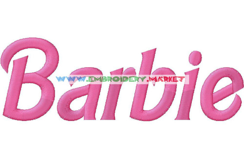 BARBIE Machine Embroidery Designs Fonts Instant Download