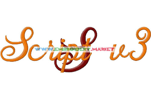 SCRIPT3 Machine Embroidery Designs Fonts Instant Download
