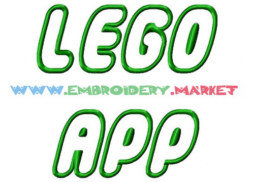 LEGO APP Machine Embroidery Designs Fonts Instant Download