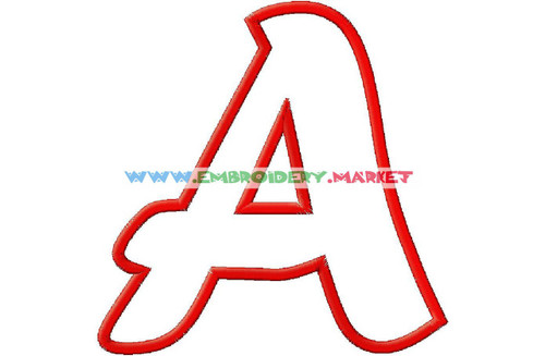APPLIQUE FONT Machine Embroidery Designs Fonts Instant Download
