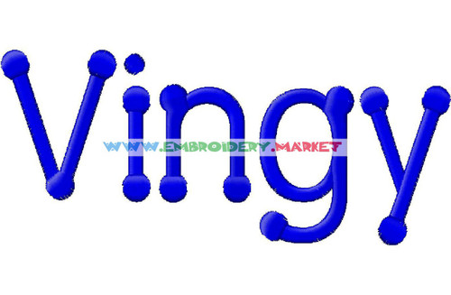 VINGY FONT Machine Embroidery Designs Fonts Instant Download