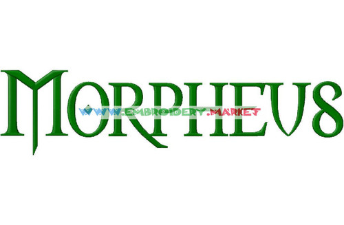 MORPHEUS Machine Embroidery Designs Fonts Instant Download