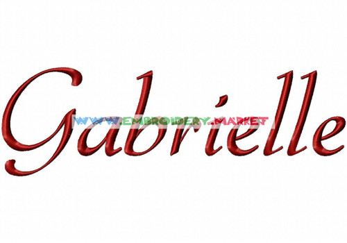 GABRIELE Machine Embroidery Designs Fonts Instant Download