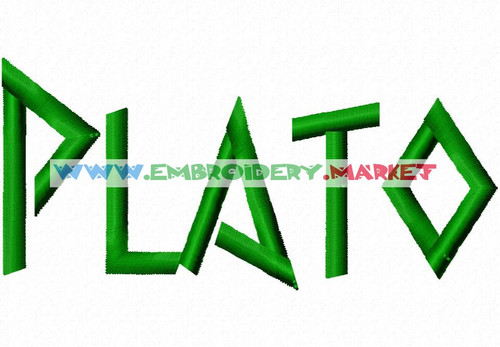 PLATO Machine Embroidery Designs Fonts Instant Download