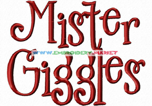 MR GIGGLES Machine Embroidery Designs Fonts Instant Download
