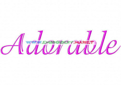ADORABLE Machine Embroidery Designs Fonts Instant Download