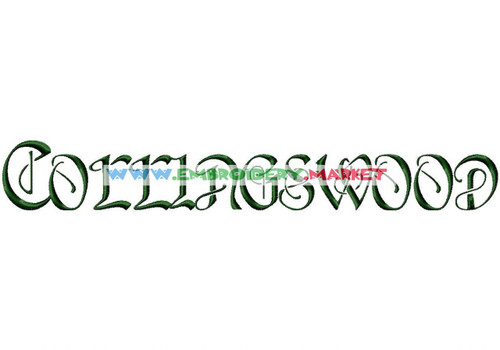 COLLINGS WOOD Machine Embroidery Designs Fonts Instant Download