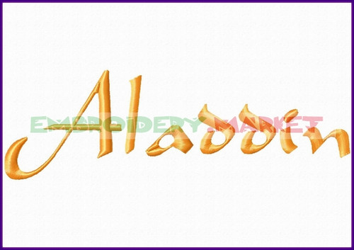 ALADDIN Machine Embroidery Designs Fonts Instant Download
