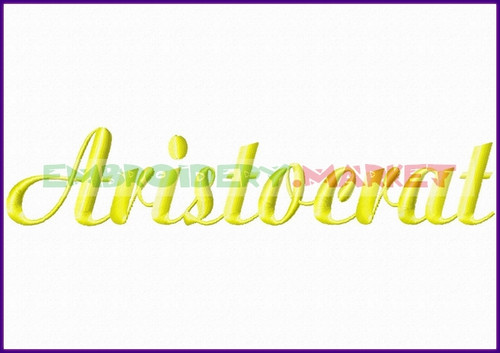 ARISTOCRAT Machine Embroidery Designs Fonts Instant Download