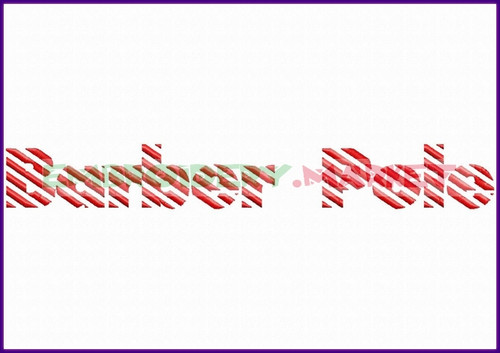 BARBER POLE Machine Embroidery Designs Fonts Instant Download