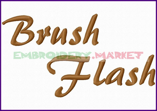 BRUSH FLASH Machine Embroidery Designs Fonts Instant Download