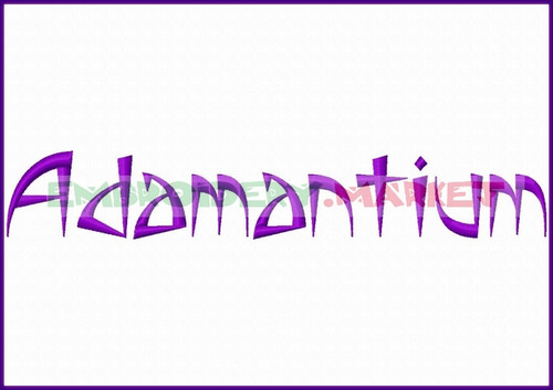 ADAMANTIUM Machine Embroidery Designs Fonts Instant Download