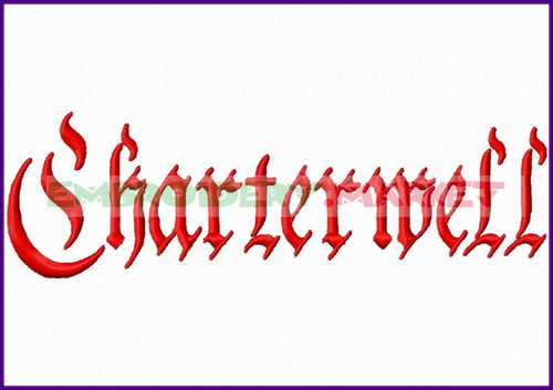 CHARTERWELL Machine Embroidery Designs Fonts Instant Download
