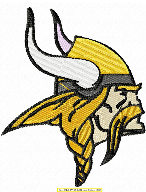 Minnesota Vikings Pro football Machine Embroidery Designs