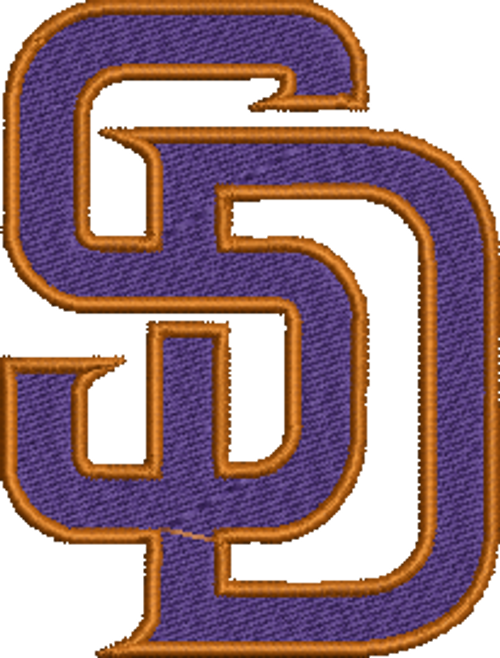 San Diego Padres Baseball Sports Team Machine Embroidery Designs 2 Sizes