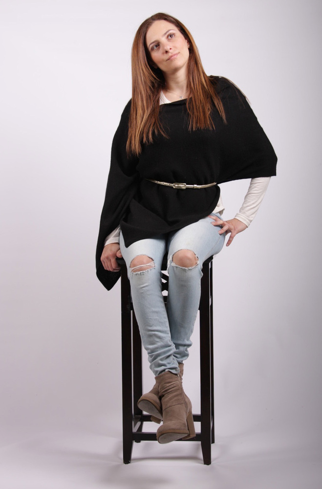 Claire  Cashmere Poncho