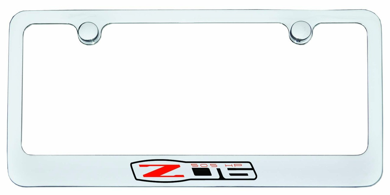 Chevrolet Corvette Z06 505HP Logo License Plate Frame Chrome ...