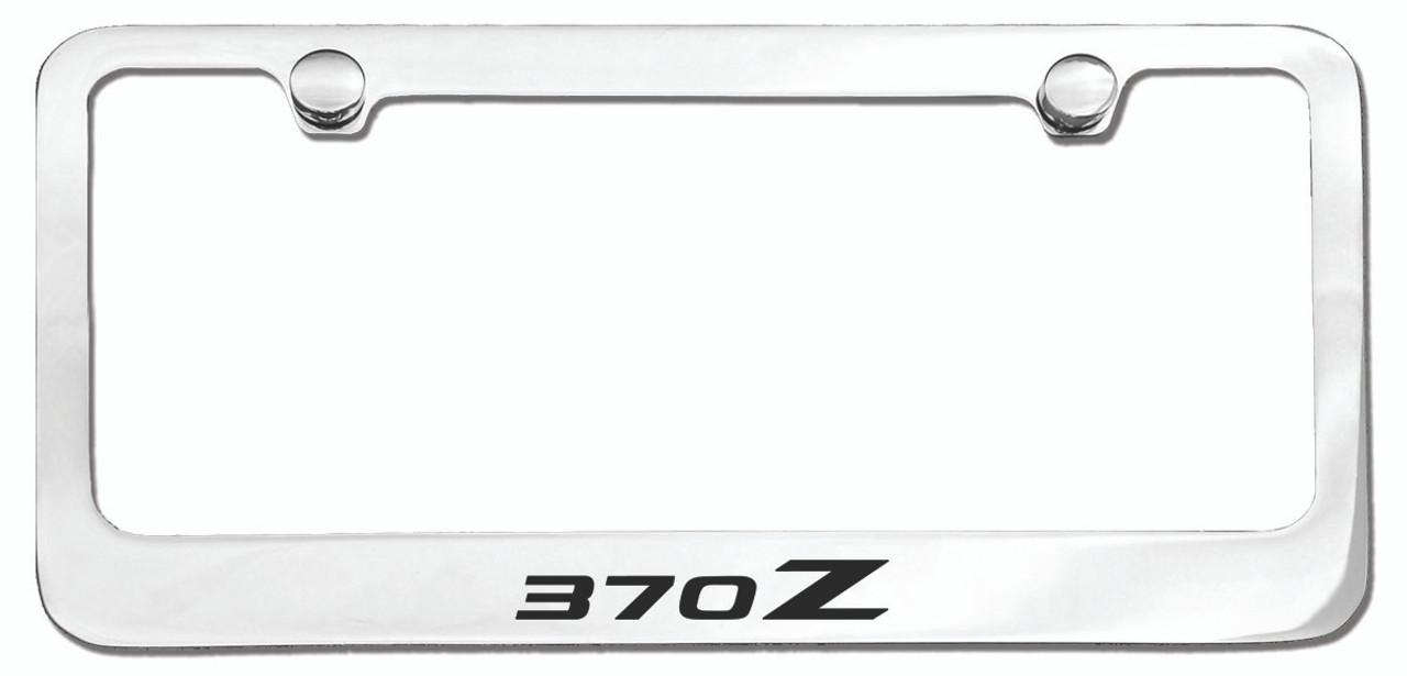 Nissan 370Z Logo License Plate Frame Chrome - CarDetails.com