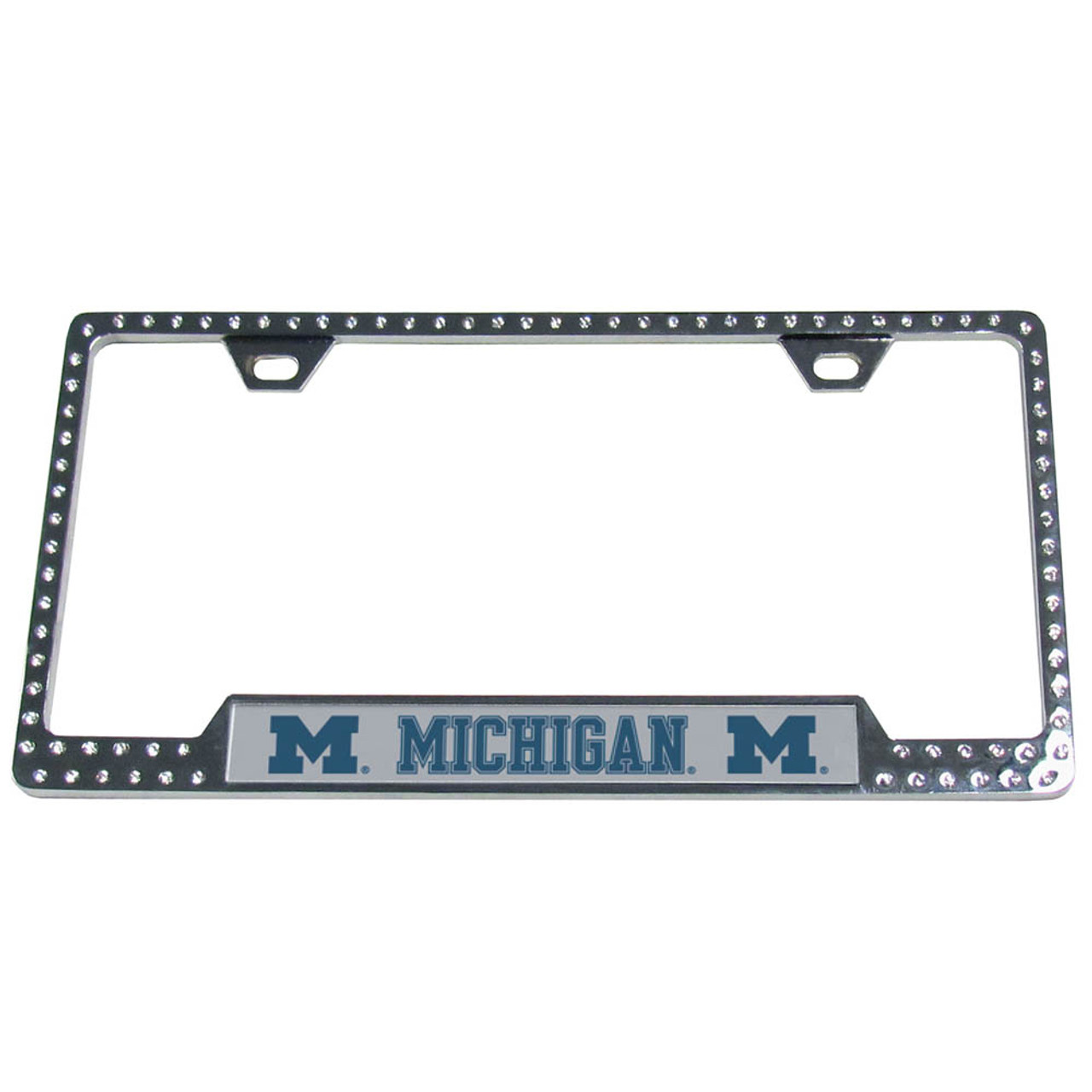 Michigan Wolverines Bling License Plate Frame - CarDetails.com