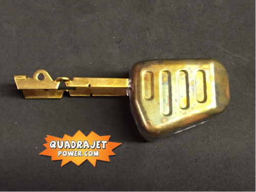 Brass Float,   later style  Quadrajet Dualjet 4M, 4MC, 4 MV, M4M, New