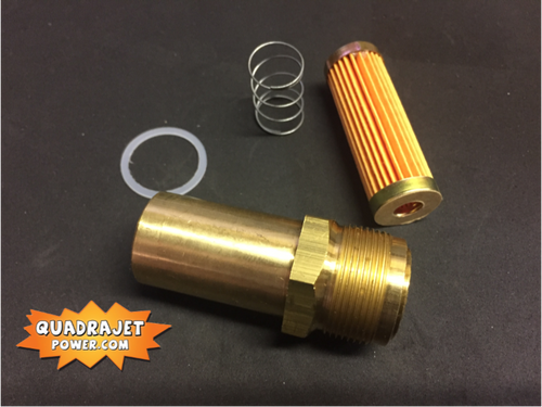 """Fuel filter Housing kit, new 1"""" housing, filter, gasket, and spring, all New"""