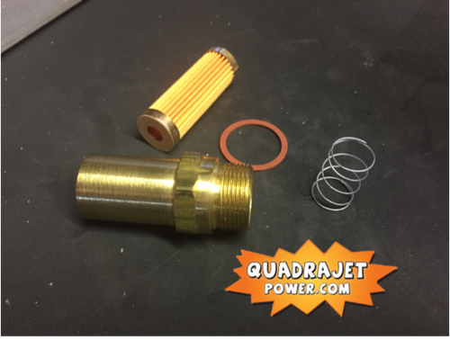 """Fuel filter kit 7/8"""". Housing, filter spring and gasket, New"""