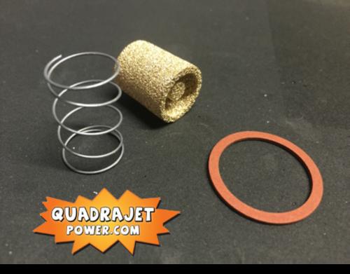 Fuel filter kit, Bronze. Filter, early inlet gasket, spring