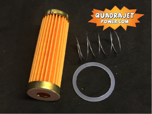 Fuel filter kit, long. Filter, late inlet gasket, spring