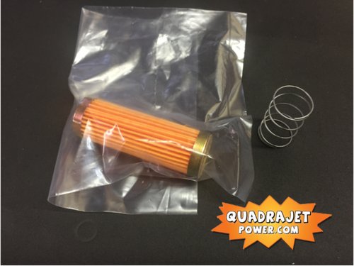 Long fuel filter with check valve, New