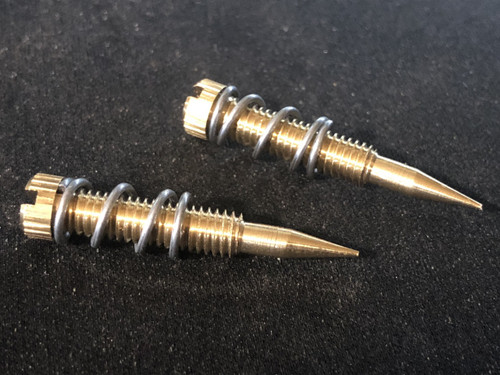 "Idle mixture screws, New 10-32 x 1.3"" Early 4m style with springs"